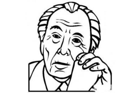 历史人物图片 弗兰克劳埃德赖特简笔画画像