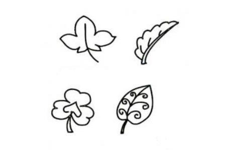 小树叶简笔画图片