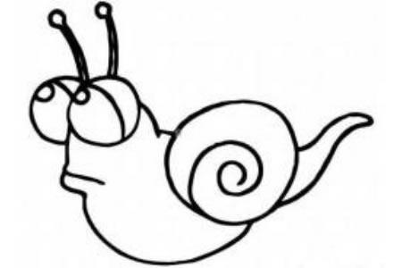 小蜗牛简笔画