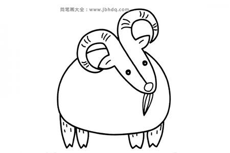 简单山羊简笔画图片