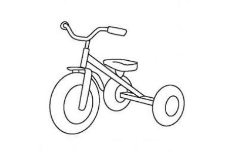 儿童玩具图片 幼儿三轮车简笔画图片