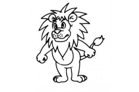 卡通狮子简笔画画法