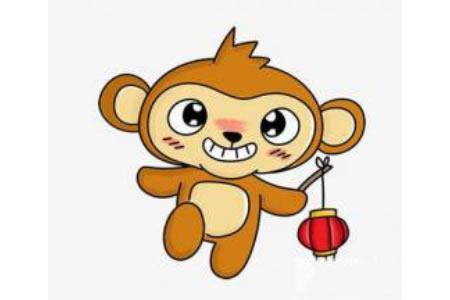 小猴子的简笔画画法