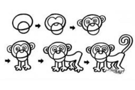 小猴子和狒狒的画法