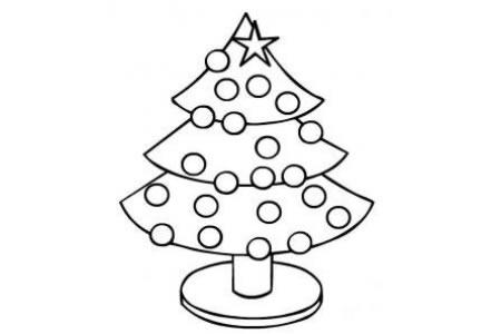 植物简笔画 小学生圣诞树简笔画图片大全