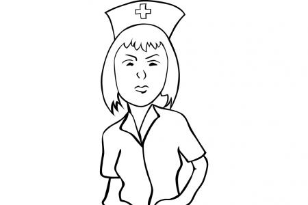 严肃的护士