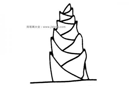 6张竹笋简笔画图片
