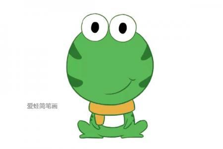 三张可爱的青蛙简笔画图片