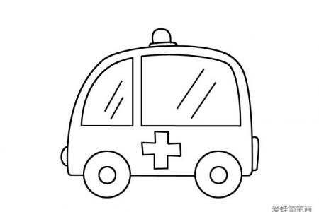 简单的救护车图片