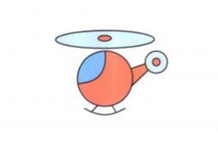 直升机简笔画画法