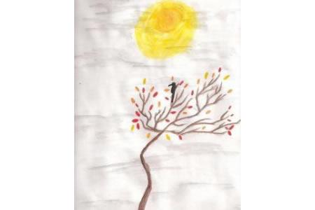 金色的月亮简单的中秋节图画