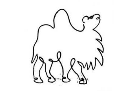 一笔画骆驼的画法