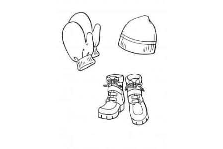 帽子手套和鞋子