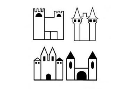 教宝宝学画城堡