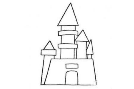 幼儿绘画城堡简笔画