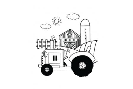 农场里的拖拉机