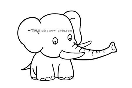 可爱的小象简笔画图片