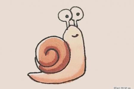 简笔画之蜗牛