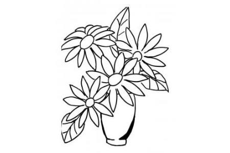 花瓶里的菊花