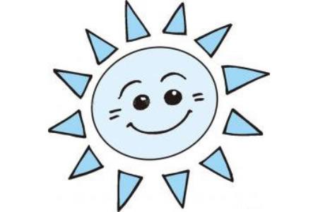 开心的太阳简笔画