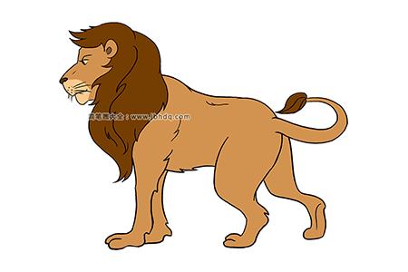雄壮的狮子简笔画图片