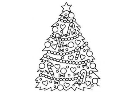 精美圣诞树简笔画大全