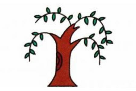 柳树简笔画画法