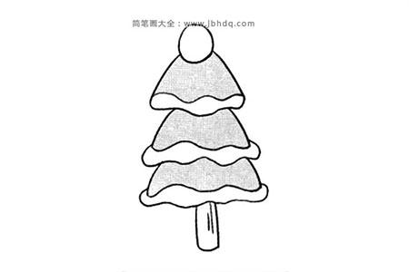 可爱的圣诞树简笔画图片