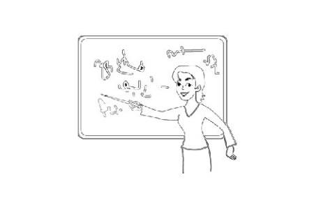 在上课的老师简笔画图片