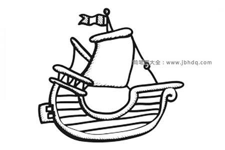可爱的帆船简笔画图片