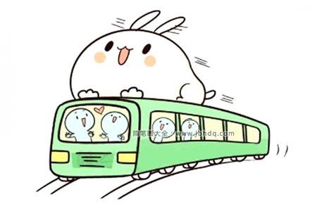 卡通公共汽车简笔画教程