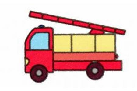消防车简笔画画法