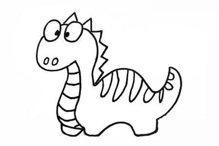 可爱卡通恐龙简笔画图片