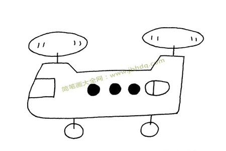 Q版运兵直升机简笔画图片