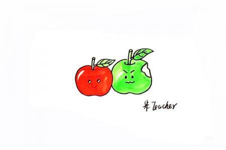 卡通苹果怎么画