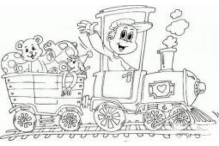 游乐园火车简笔画图片