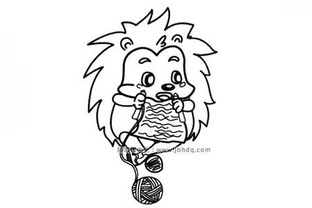 刺猬织毛衣