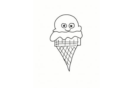 可爱冰淇淋的简笔画图片