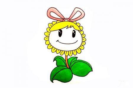 卡通向日葵怎么画