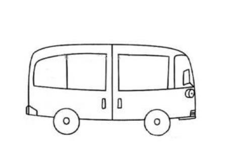 中巴车简笔画图片