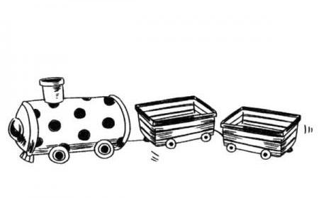 可爱的小火车简笔画