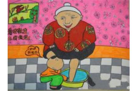 我给奶奶洗洗脚