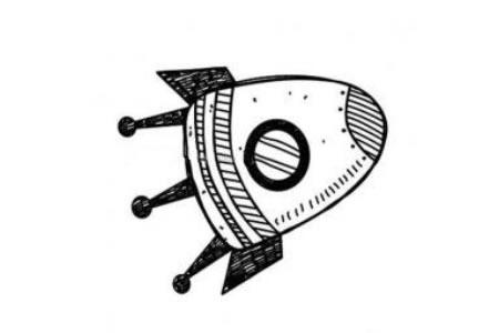 卡通宇宙飞船简笔画