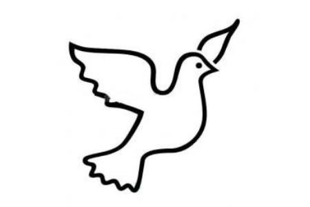 和平鸽图案简笔画