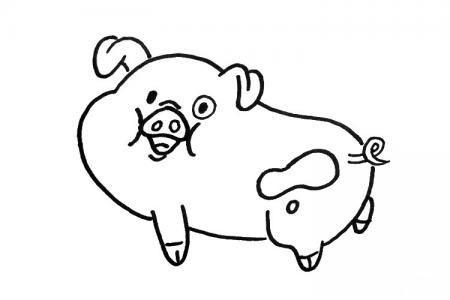 可爱的小猪