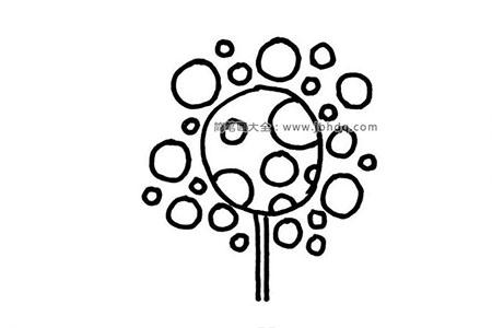 6张大树的创意简笔画