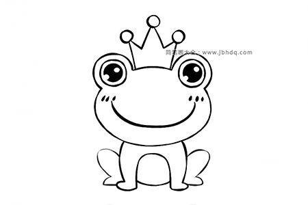 萌萌哒青蛙王子简笔画