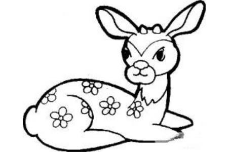 教你画可爱的梅花鹿
