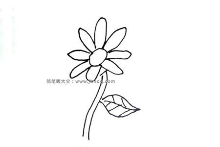 简单的向日葵简笔画