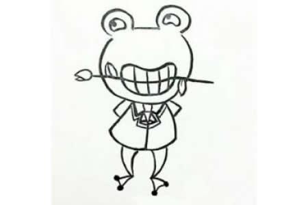 简笔画教程 青蛙王子简笔画步骤图